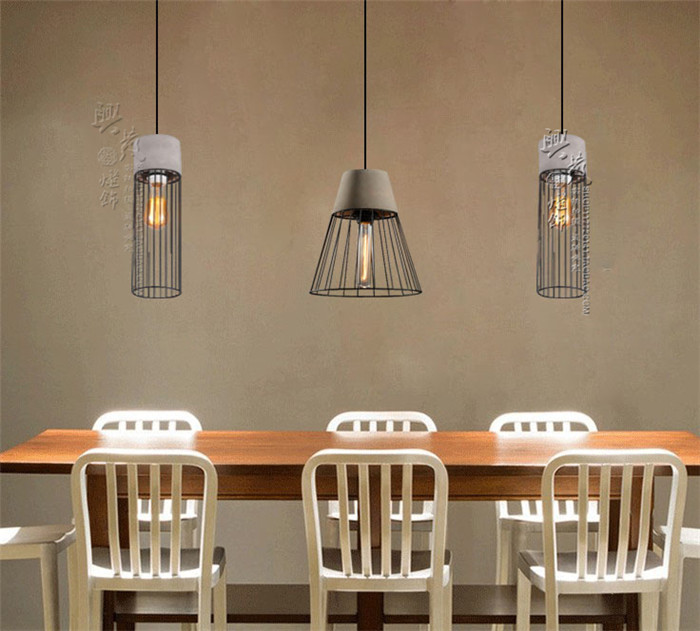 Creative art cement pendant lights new retro Concrete iron net cafe restaurant coffee pendant lamp warehouse retro resin SN10 eiceo nordic ancient art cement resin creative pendant lamp minimalist retro cement lampshade for indoor cafe bars decor light
