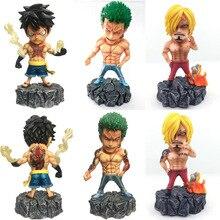 Underworld Gangland One Piece Roronoa Zoro Sanji Monkey D Luffy with Tattoo PVC Action Figure Toys 15cm