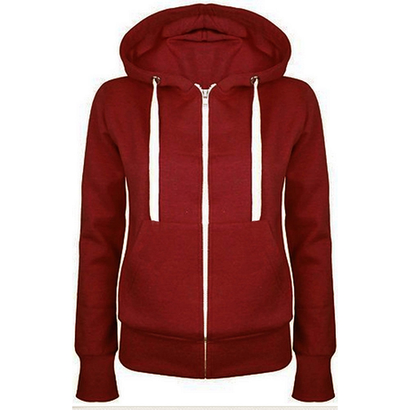 2017 New autumn Unisex Zip Up Hooded Zipper Hoodies Sweatshirt ...