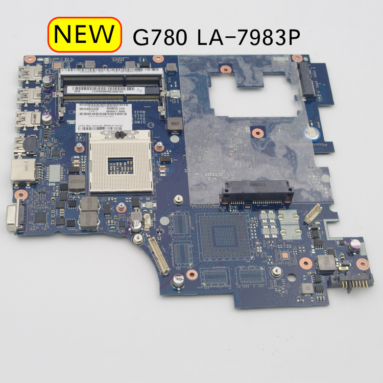 Tested LA-7983P Mainboard For Lenovo G780 Laptop Motherboard