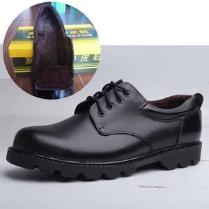 Image 4 - メンズ靴大サイズカジュアル英国の本革男性靴役員牛leatrher靴男性冬暖かい毛皮豪華な黒