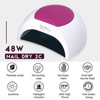 Vrenmol 48 w Professionele Nagel Lamp UV Lamp Nail Dryer voor UV Gel LED Gel Nail Machine Infrarood Sensor