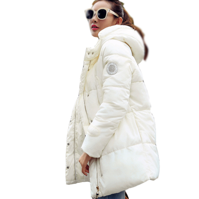 Fashion 2016 winter jacket  new women's  In the long section wadded jacket Hooded female  jacket silm  parkas ladies coat