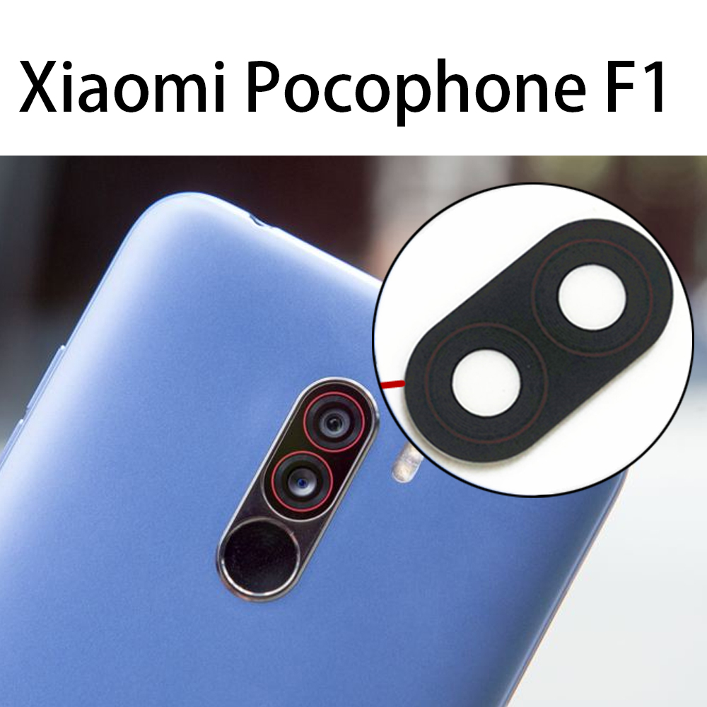 For Xiaomi Pocophone F1 Rear Camera Lens Glass For POCO F1 Back Camera Lens Replacement Parts