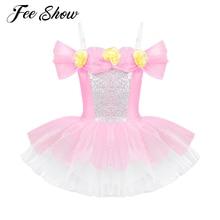 99d2f0fdb82d 3D Flowers Ballet Tutu Dress Girls Gymnastics Leotard Dancewear Ballet  Clothes Children Ballerina Costume Discount Ballet