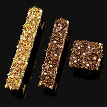 128mm european fashion deluxe bronze gold furniture handles rhinestone peal wine cabinet kitchen cabinet tv table handles pulls