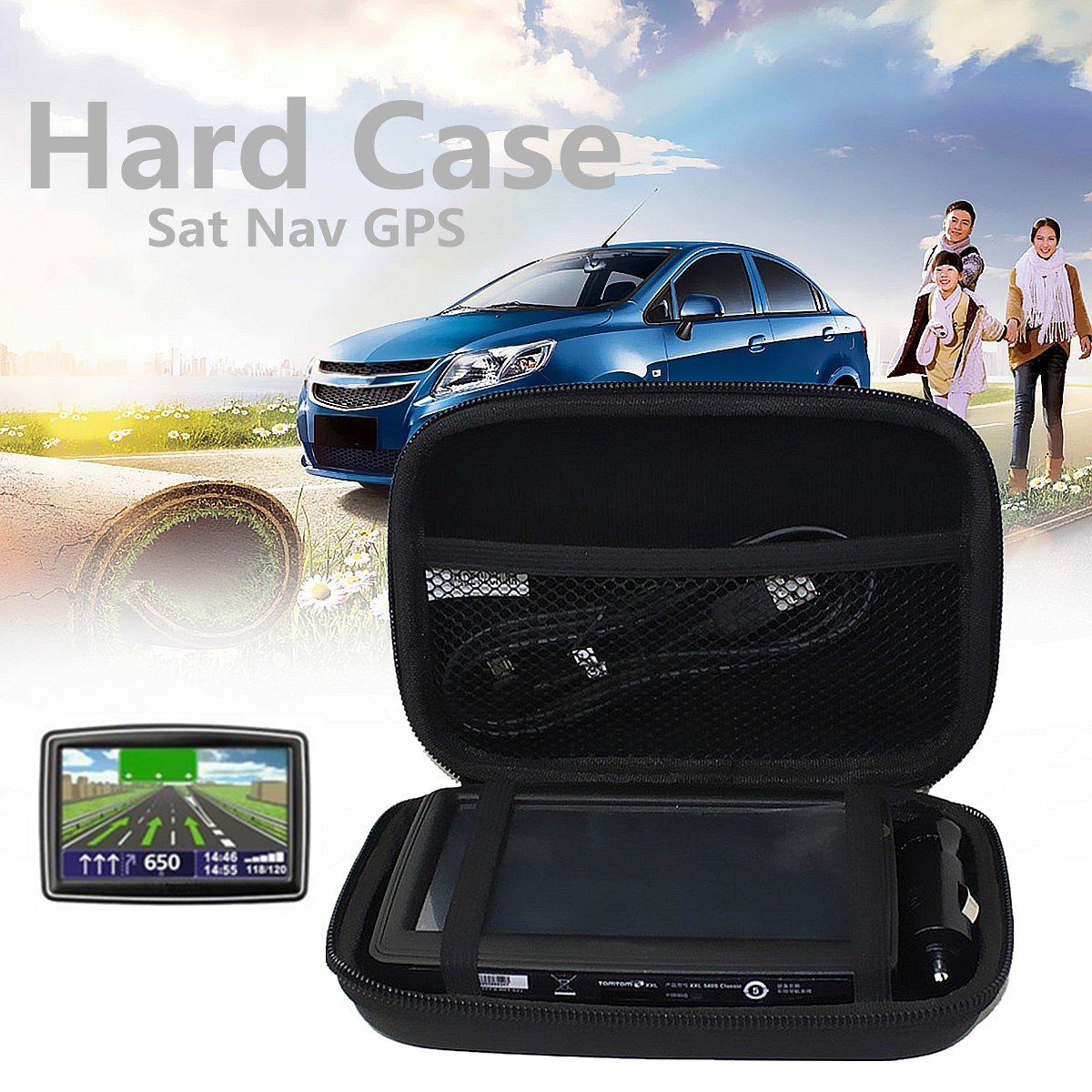 5 Inch Hard Shell Storage Carrying Case Cover Car GPS Navigation Protective Bag Pouch For TomTom/Sat/Nav/GO 5100 5000 510 500 ep5 20pcs lot mini dv headphone sport camera bluetooth headset video recorder run ride video camera listen to music