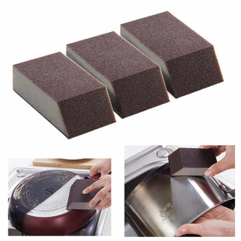 Trapezoid Sponge Carborundum Brush Bath Office Bar Kitchen Washing Gap Cleaning Kitchen Pots Dish Stoves Plate Bowl Cleaner Tool
