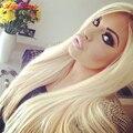 TOP 100g Grampo Em Extensões Do Cabelo Humano Cabeça Cheia Set Clipe em #613 Grampos de Cabelo Humanos Em Platinum Blonde Clipe Peruano Em cabelo