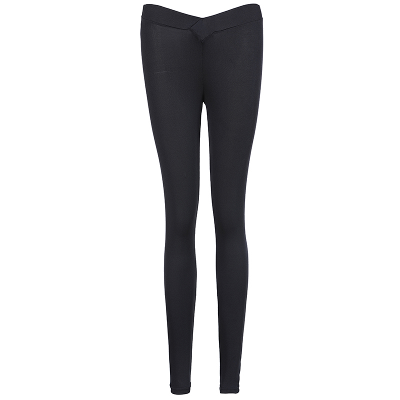 women Tight sexy hips push up pant High Solid Skinny Stretch Size S-XL