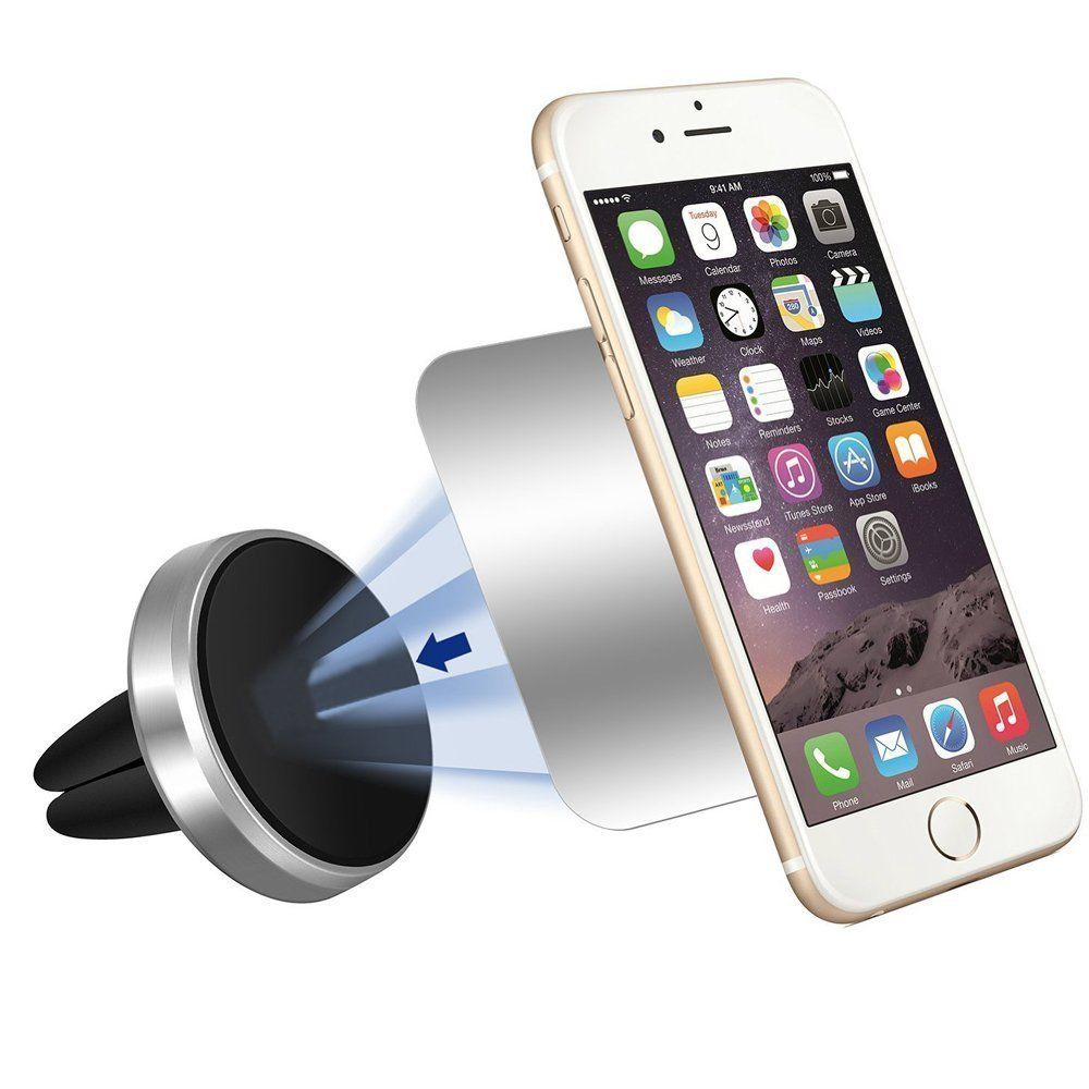 for Cell Phones and Mini Tablets with Fast Swift-Snap Technology With 4 Metal Plates Apex Intuition Magnetic Mount Universal Air Vent Magnetic Car Mount Phone Holder