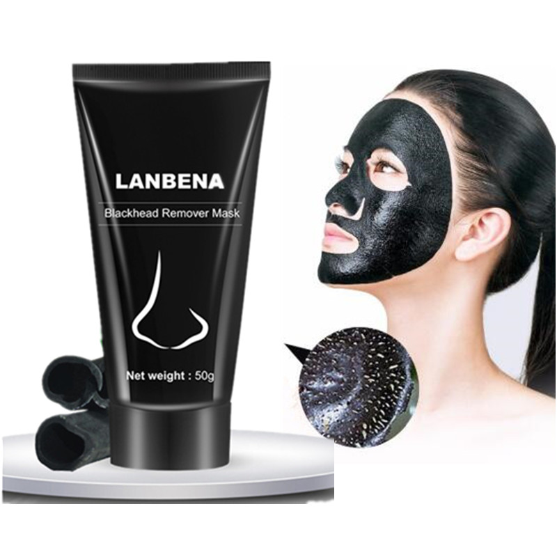 LANBENA Black Mask Face Mask From Black Dots Black Head Remover Skin Care Mud Nose Strips Acne Treatment Pore Peel Off Mask Free