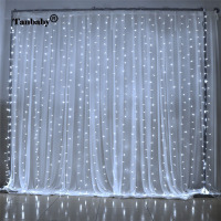 Tanbaby LED Curtain Light 3x3M 300 Leds Icicle String Lights 8 Modes For Wedding Festival Party