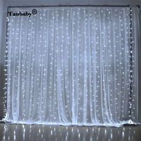 Tanbaby LED Curtain light 3x3M 300 leds Icicle String Lights 8 Modes for Wedding Festival Party Ceremony Christmas decoration