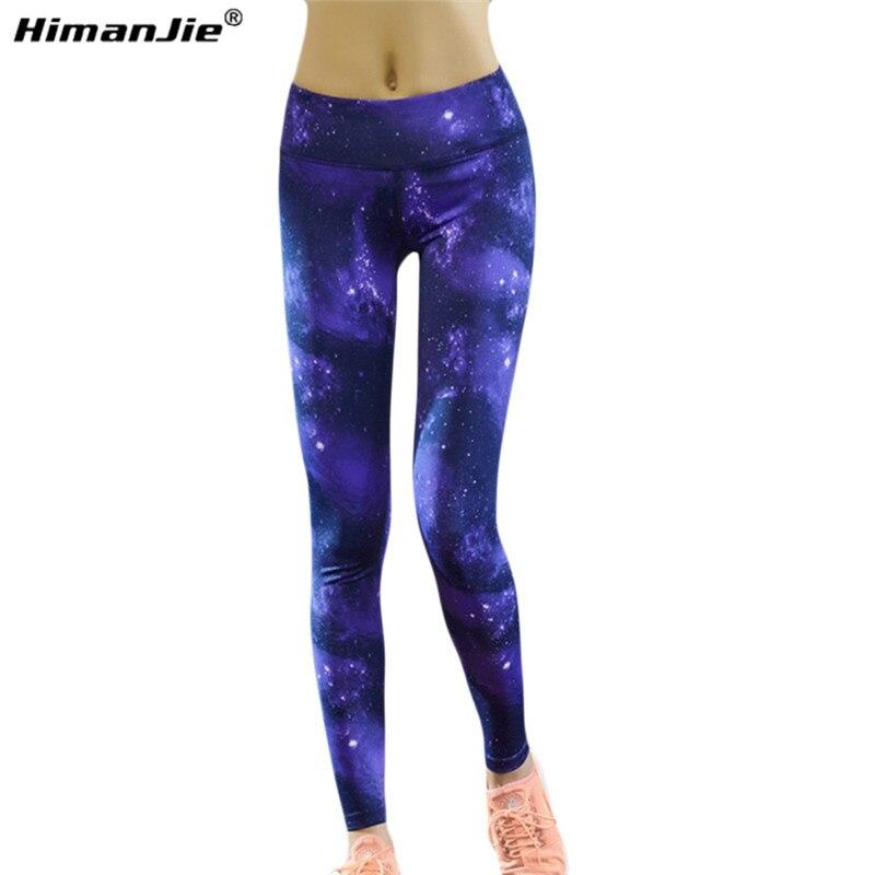 Prix pour Femmes Yoga PantsPrinting Rêve Bleu Étoiles Ciel Avec Étoiles Espace Galaxy Espace Imprimé Ciel de Course Pantalon Gym Leggings Serrés Pantalon