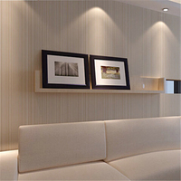 Modern Minimalist Style Wall Paper Striped Solid Color Non Woven Wallpaper Living Room Tv Sofa Background