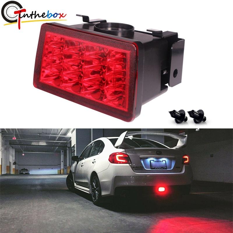 Red Lens F1 Style LED Rear Fog Light Brake//Tail Lamp For Subaru WRX STi XV Impre