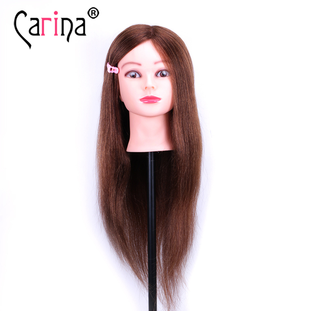 100 Natural Hair Hairstyling Head Manikin With Human Hairdressing Mannequins Mannequin Hairdresser