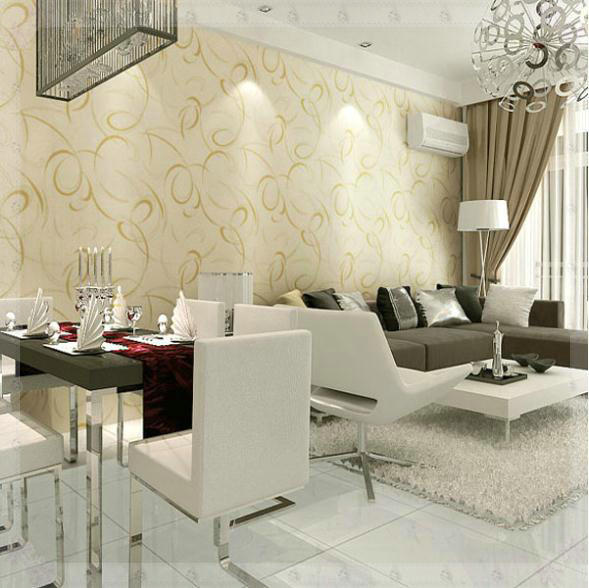 Pvc Wallpaper Modern Design Background Wallpaper Tv Background Wall