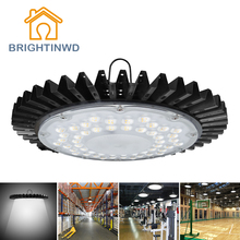 BRIGHTINWD Industrial Ultra-thin UFO High Bay Light High Lumen 100W 220V-240V SMD2835 LED Lamp for Factory/Warehouse