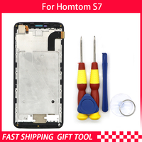 New original Touch Screen LCD For HOMTOM S7 Screen LCD Display Digitizer Assembly With Frame Replacement Parts