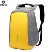 Anti Theft Waterproof Laptop Backpack Men Women External USB Charge Notebook Backpack With Rainproof Cover Computer