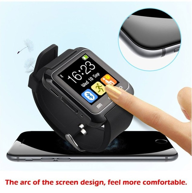 US $18 96 |New Bluetooth U80 SmartWatch BT Notification WristWatch for  iPhone 4/4S/5/5S Samsung S4/Note 2/Note 3 Android Phone black-in Smart  Watches