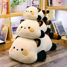 80cm Giant Plush cat pillow black and white stuffed animal Cat Doll Super soft Huge Sofa and bed decor Cushion toys for children(China)