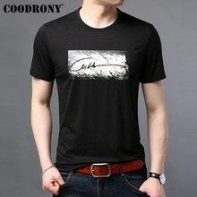 COODRONY T Shirt Men Summer Casual Streetwear Tshirt Fashion Print Short Sleeve T-Shirt Cotton O-Neck Tee Homme S95082