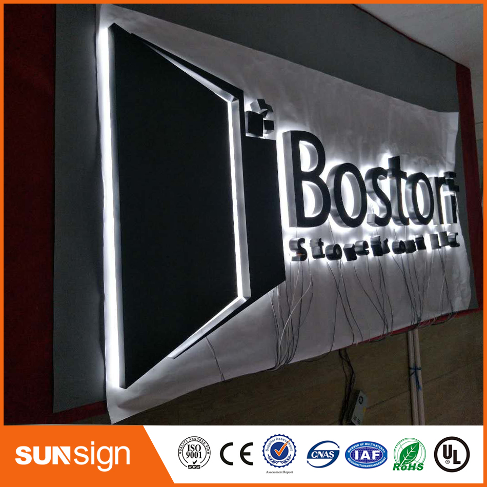 Factory Outlet Outdoor Stainless Steel Backlit Signs, LED Backlit Signage For Shop, Restaurant And Coffee Store