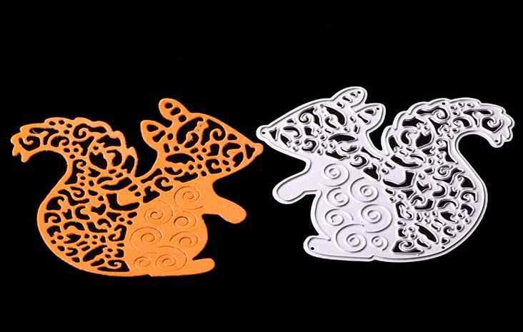Sevimli sincap Metal kesme Die ölür şablonlar için DIY Scrapbooking fotoğraf albümü dekoratif kabartma klasör Stencil kalıp kesim