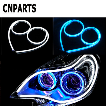 CNPARTS 2X 60CM Car DRL Flexible Daytime Running LED Light Lamp For Mercedes W203 W211 W204 W210 Benz BMW F10 E34 E30 F20 X5 E70 image