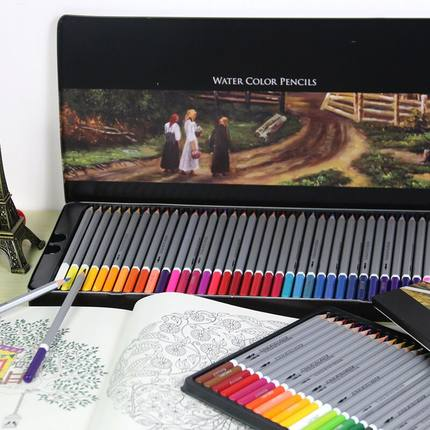 Free shipping deli 24/36/48/72 colors pencil water color pencils painting colorful watercolor pen student supplies paint pencil