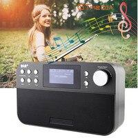 Freesat DR 103B DAB Receiver Portable Digital DAB FM Stereo Radio Receptor With 2.4 Inch TFT Black White Display Alarm Clock