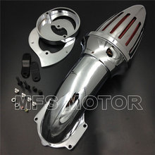 цены motorcycle parts for Yamaha Vstar V-Star 650 all year 1986-2012 Air Cleaner intake filter CHROME