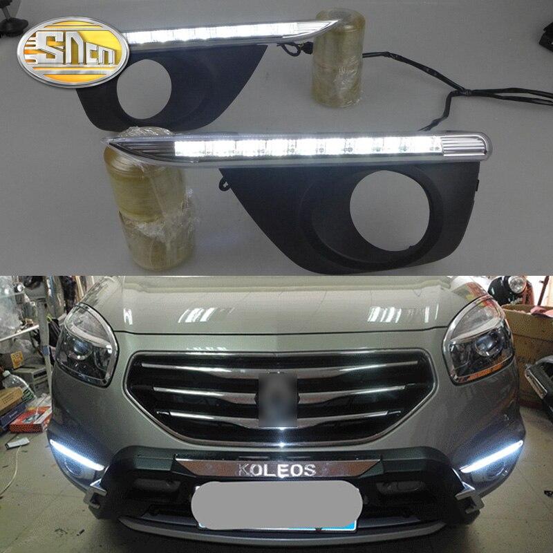 SNCN LED Daytime Running Light For Renault Koleos 2011 2012 2013 2014 Car Accessories Waterproof ABS
