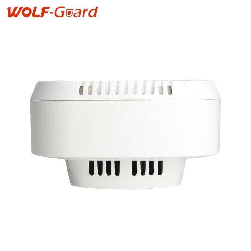 Волк-охранник белый 433 мГц Беспроводной датчики сигнализации Беспроводной своих дыма с 85db тревожный звук датчик сирена