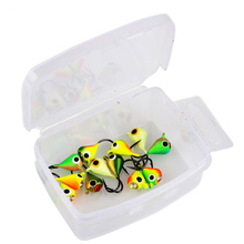 Goture 12pcs/box Winter Ice Fishing Lure Jig Head Fishing Hook 1g 1.4cm