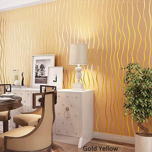 papel de parede listrado Glitter Striped Wallpaper 3D Non woven Room ...