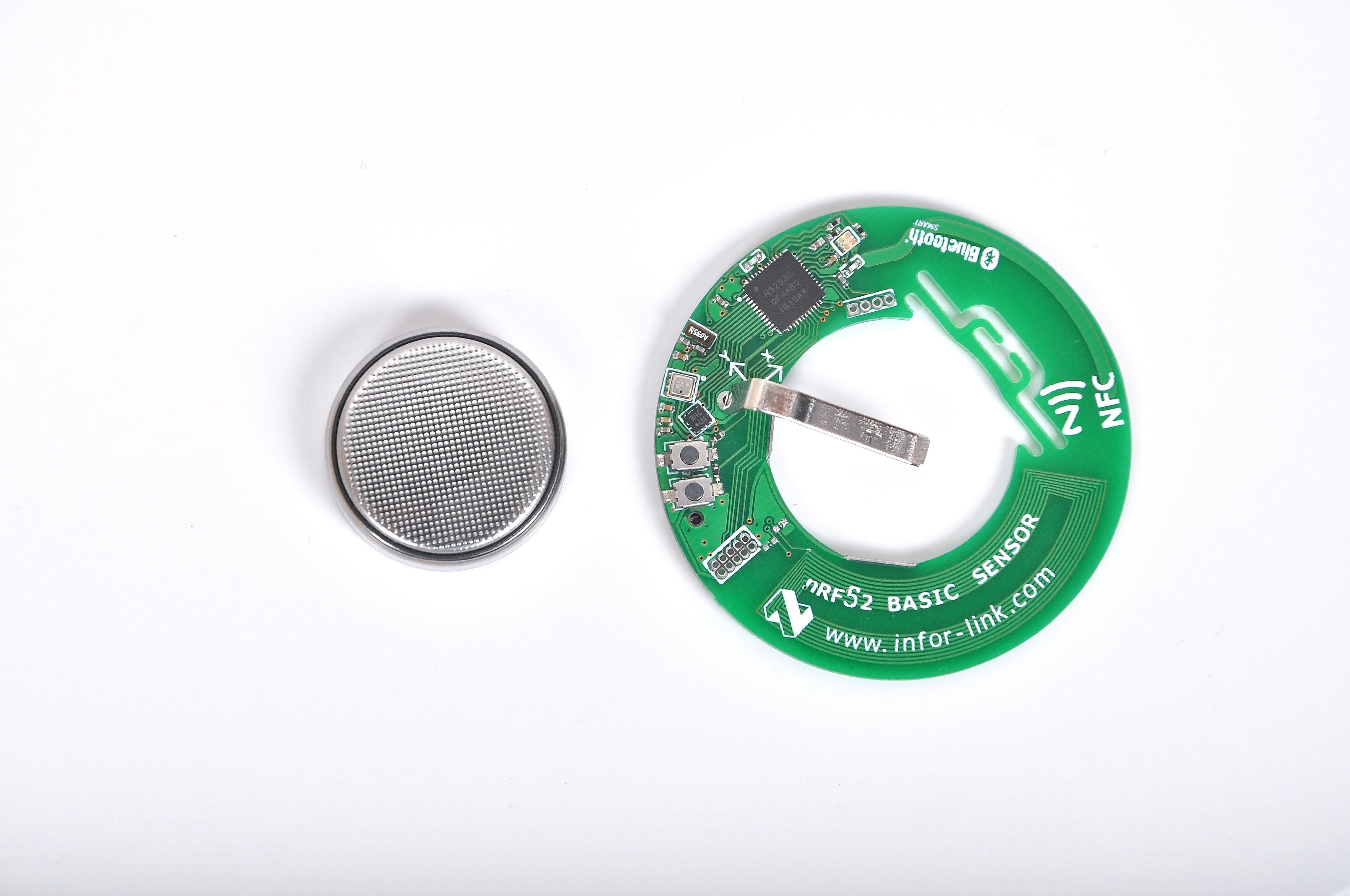 Nuovo prodotto! NRF52832 Bluetooth, sensore wireless, sensore di accelerazione, BME280 ambiente sensoreNuovo prodotto! NRF52832 Bluetooth, sensore wireless, sensore di accelerazione, BME280 ambiente sensore