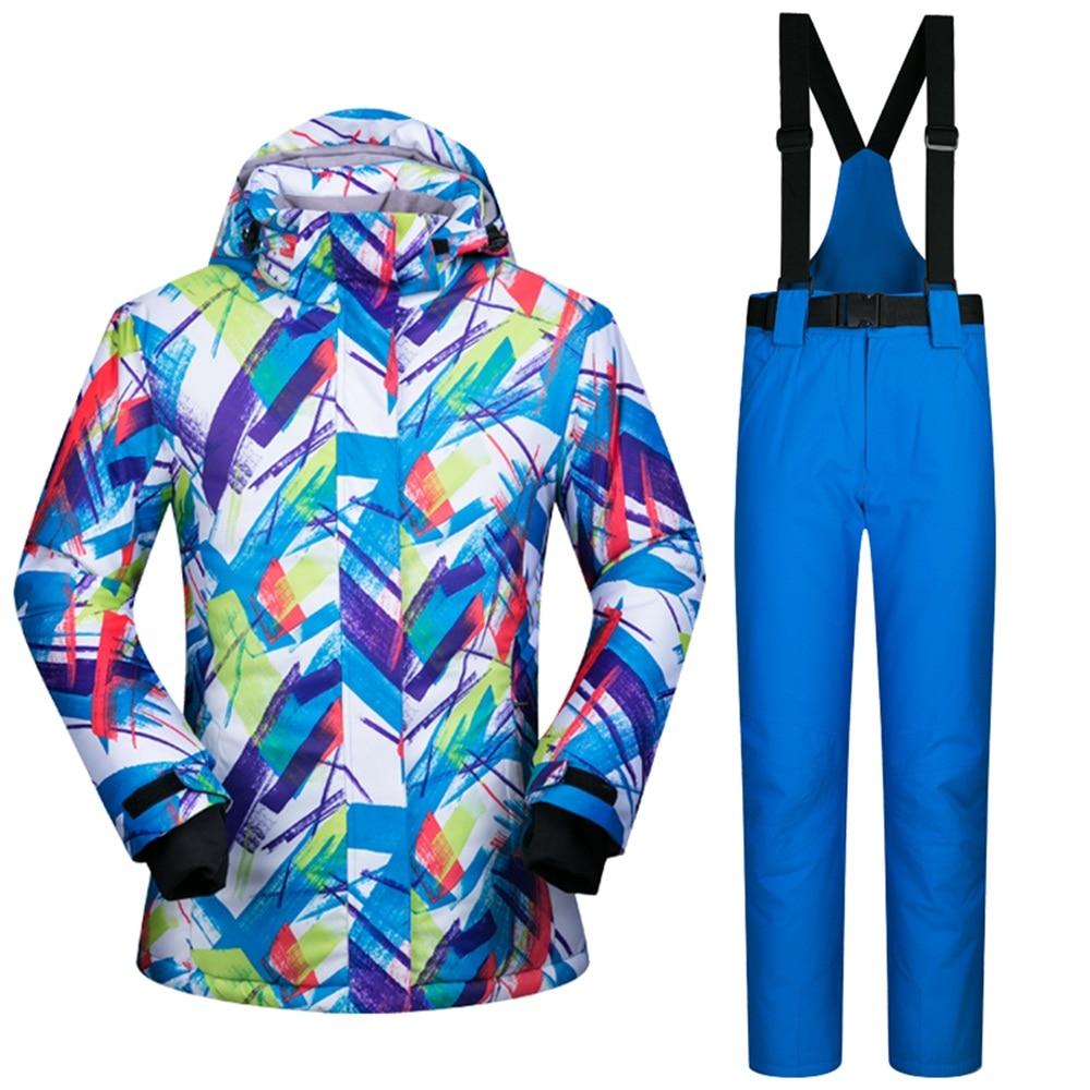 Prix pour 686 Amoureux de la Marque de Ski Costumes Respirant Étanche Hommes Femmes Ski Vestes et Pantalons Ensemble Thermique Snowboard Vêtements Femme