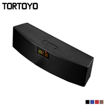 TORTOYO LED Stereo Bass 3D Subwoofer Bluetooth Speaker Wireless 10W Portable HIFI Woofer Amplifier Support TF Card FM Radio Aux
