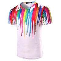 Splashed Paint Design 3D T Shirt 2017 Casual Summer 3d Print Men Top Tees O Neck