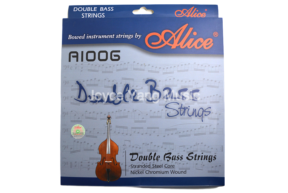 Alice A1006 Upright Bass Strings Double Bass Strings 1st-4th/5th Stranded High-Carbon Steel Core Nickel Chromium Wound Strings rotosound rs88ld black nylon flatwound bass strings