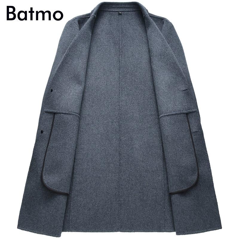 Alta 2018 Los Casual Hombres tamaño Trench Coat Elegante Chaquetas 70 Más Gray Hombres Largas Lana Nuevos Batmo Calidad Invierno black d1Pt7tq