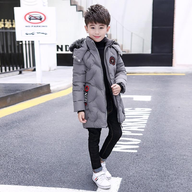 Beau mignon doux-traitée ignifuge revêtement pour le grand garçon en hiver vers le bas veste épaisse vers le bas veste coton vêtements