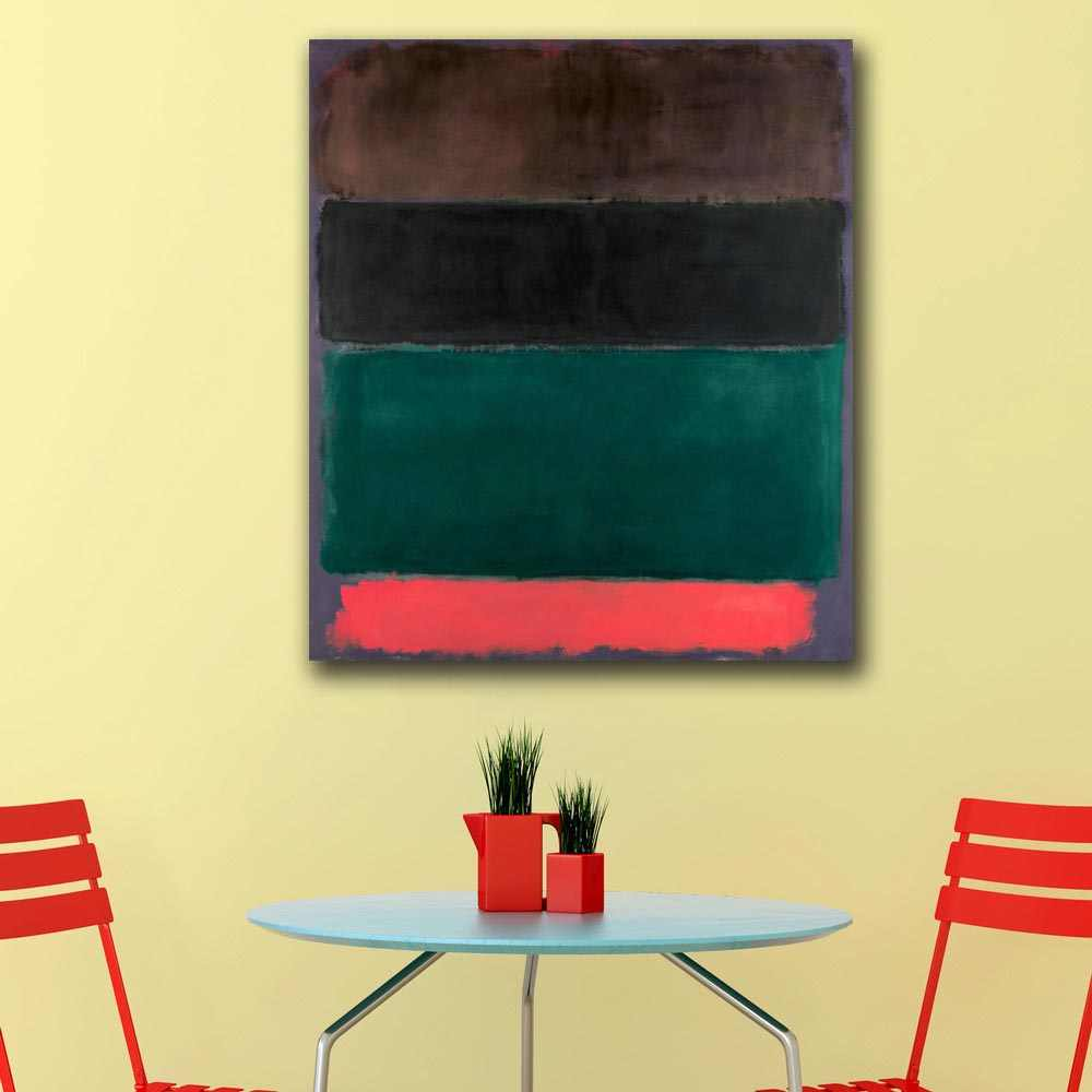 Wall Pictures For Living Room Abstract Mark Rothko Red and Brown and Black and Green and Red Home Decor Modern Oil Painting