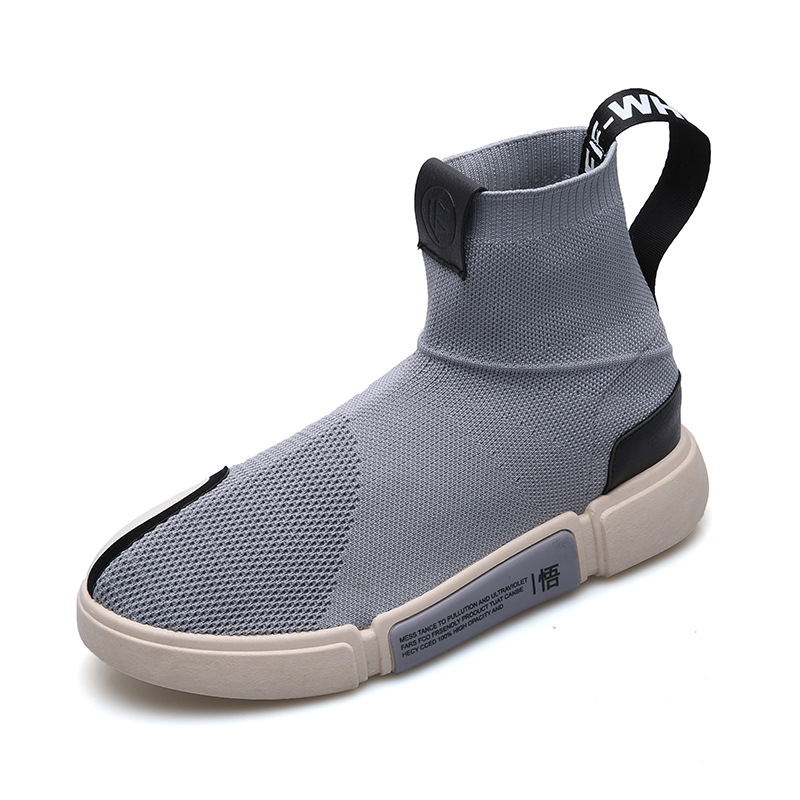 SWYIVY Man Sneakers High Top Stretch Socks Shoes 2018 Autumn Male Breathable Casual Shoes Platform Mesh Breathable Male Sneakers