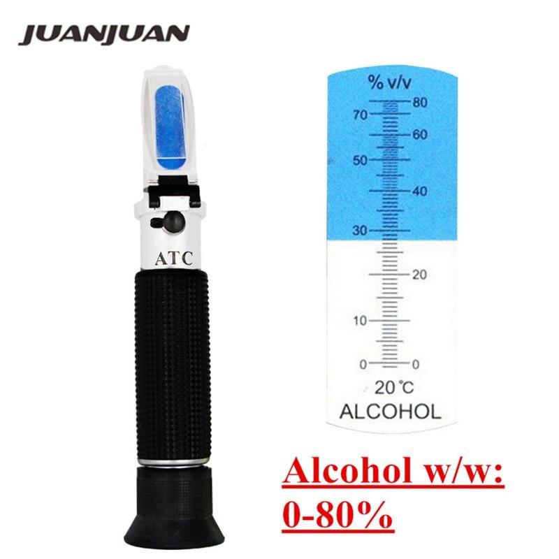 Handheld alcool testeur réfractomètre (0-80%) oenometer moniteur détecteur de liqueur mètre avec ATC 54% off