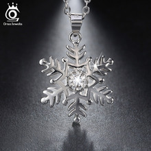 925 Sterling Silver Snowflake Collares pendientes 64 cm para Los Hombres/de Las Mujeres 2016 Genuino de la Joyería de Plata Regalo del Amante SN07